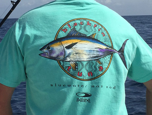 H-Blue-O Men's Fishing T-Shirts