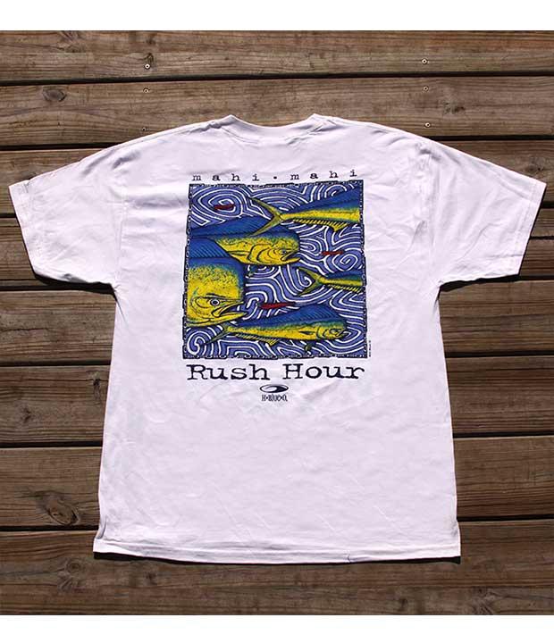 Mahi Mahi Rush Hour T Shirt H Blue O Fishing T Shirts